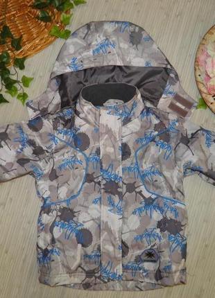 Обнова! супер крутая лыжная куртка nkd от rider (р.98-104, на 3-4 года) курточка