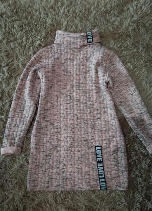 Туніка тепла на дівчинку 8-10 років