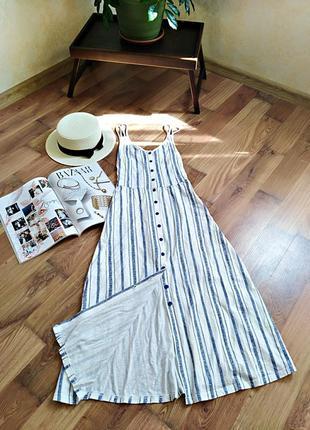Крутое трендовое платье-сарафан в полоску от topshop