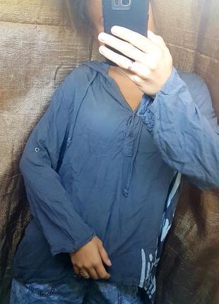 Трикотажная неформальная туника италия мантия ассиметричная со шлейфом и капюшоном