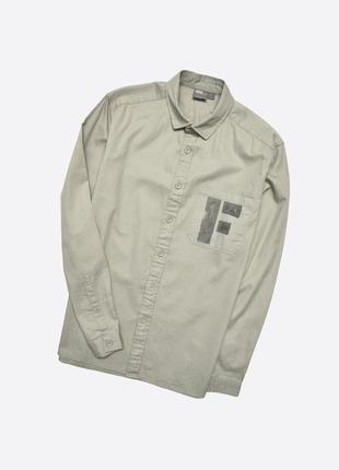 Asos m / милитари овершот рубашка с большим карманом и принтом, хлопок