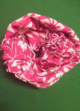 Шаль-платок-палантин из марлёвки