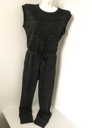 Женский комбинезон брючный спортивный с коротким рукавом карман приталенный карманы