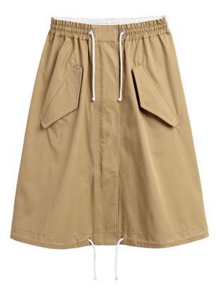 Расклешенная хлопковая юбка h&m studio s\s 2018