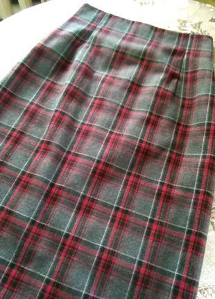 Осенняя юбка с высокой талией