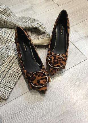 Леопардовые лодочки на шпильке