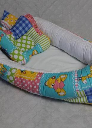 Кокон - позиционер игрушки + ортопедическая подушка