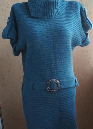 Теплое платье свитер 067