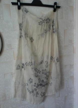 Дизайнерский подписной шарфик, от laura biagiotti, шов роуль, разм.42х150см
