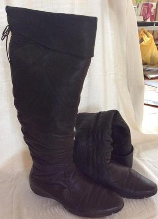 Зимние сапоги выше колена для большой ноги!