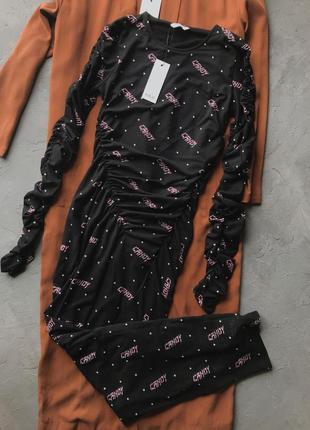 Длинное макси платье envii с принтом - новое!