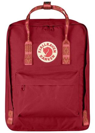 Рюкзак fjallraven kanken канкен портфель сумка classic 16 литров red folk patern