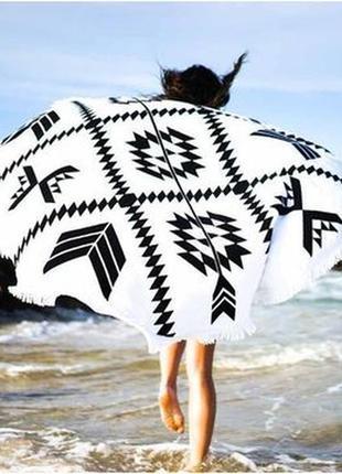 14-6 подстилка на пляж круглый пляжный коврик яркая мандала