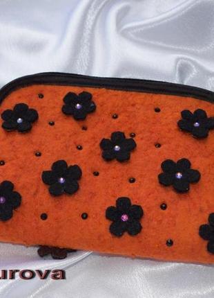 Клатч-кошелёк, оранжевый