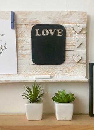 Органайзер из сосновых планок с меловой поверхностью with love