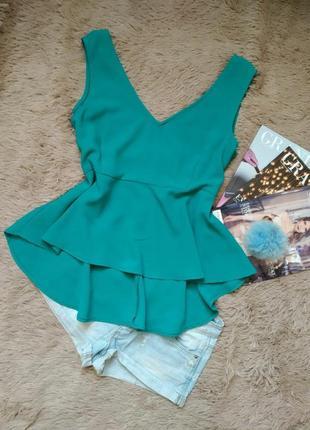 Блузка с баской/блуза с воланом/кофточка/майка/топ