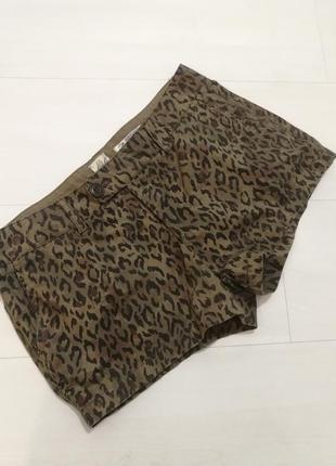 Ltb джинсовые шорты s, леопард