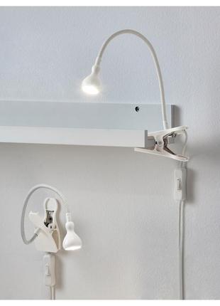 Лампа с зажимом или настенная светодиодная jansjö ikea {яншо икеа} a++