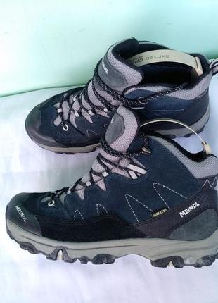 Термо-ботинки зимние meindl gore-tex р.37 мальчику мембранные кожаные