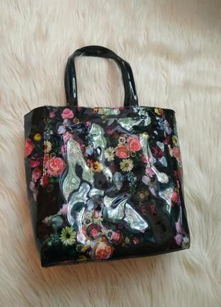 Шикарная сумка цветы розы оригинал шоппер