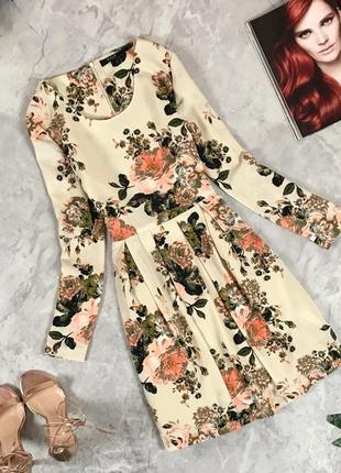 Модное платье в цветочный принт  dr1932110 vila