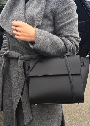Клатч , сумка женская кожаная черная италия натуральная кожа
