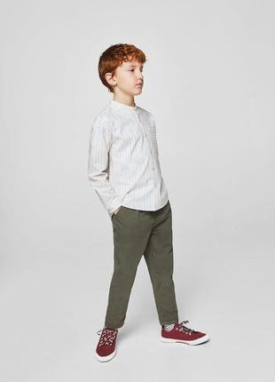 Рубашка mango с воротником стойкой в полоску. все размеры