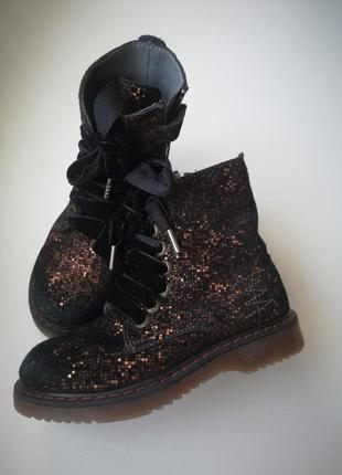 Ботинки, нобук, кожа