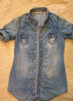 Удлиненная джинсовая рубашка от george