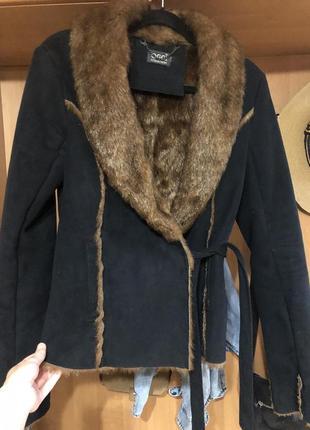 Куртка осенняя замш