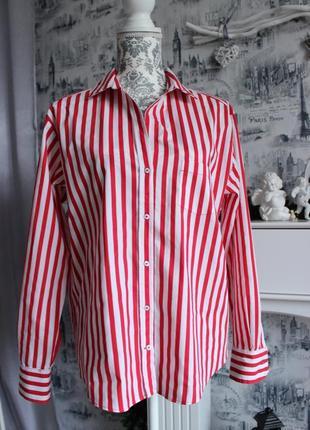 Оригинальная рубашка в красную полоску от zara