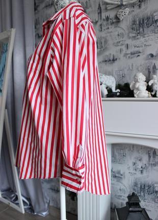 Оригинальная рубашка в красную полоску от zara6 фото