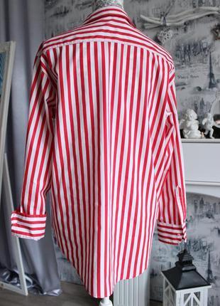 Оригинальная рубашка в красную полоску от zara7 фото