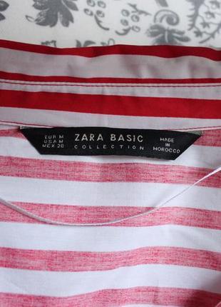 Оригинальная рубашка в красную полоску от zara10 фото