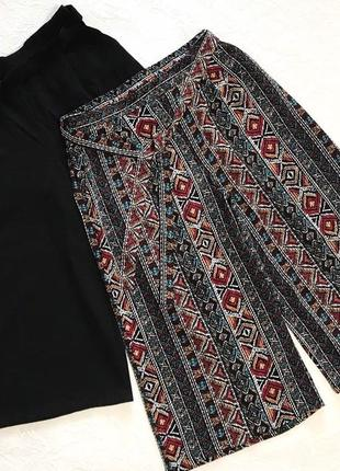 Стильные кюлоты укорочённые свободные штаны primark