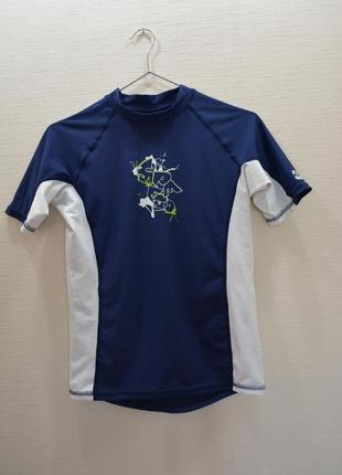 Нейлоновая спортивная футболка,майка для фитнеса,серфинга, вело spf 50+ защита от уф лучей