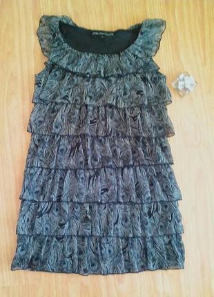 Праздничное платье со сборочками.распродажа вещей