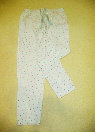 Пижамные коттоновые штанишки в горошек.