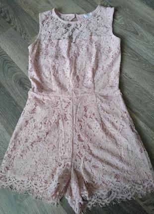 Кружевной комбинезон, платье amisu