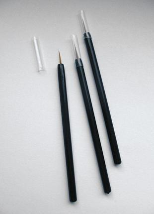 Тонкая косметическая кисточка, набор 10 шт.; для карепроста и пр.
