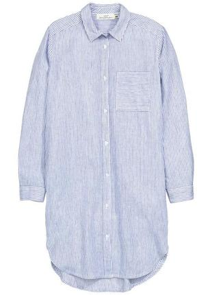 Платье рубашка лён коттон h&m2 фото