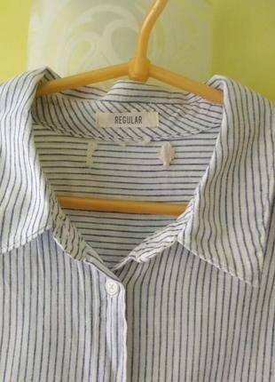 Платье рубашка лён коттон h&m6 фото