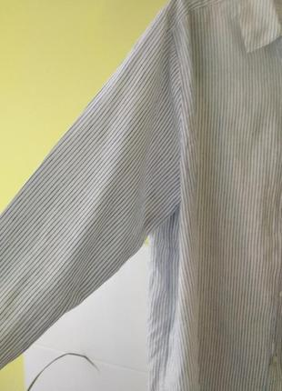 Платье рубашка лён коттон h&m8 фото