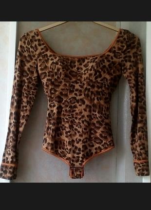 Леопардовый комбидрес боди от французского бренда maison lejaby