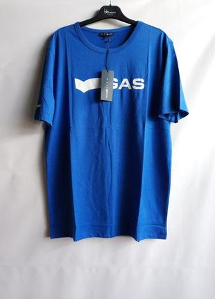 Мужская футболка итальянского premium бренда gas, l, xl