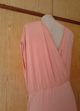 Вискозное бледно-розовое платье- сарафан, l5 фото