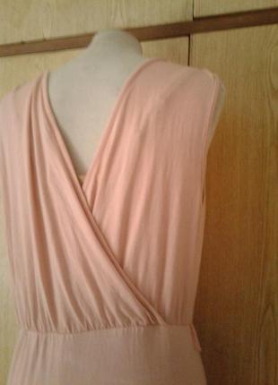 Вискозное бледно-розовое платье- сарафан, l3 фото