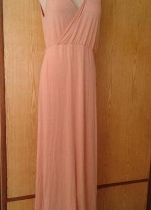 Вискозное бледно-розовое платье- сарафан, l2 фото