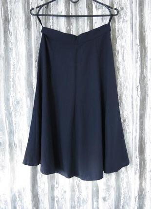 Синняя расклешенная юбка 12 размер