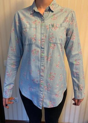 Рубашка джинсовая abercrombie & fitch, размер м